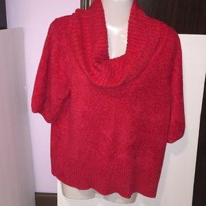 Worthington red sparkly sweater. Size Large.